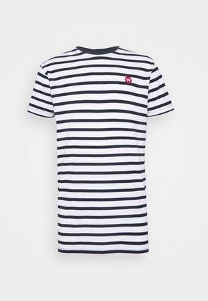Navey - T-shirt print - navy white