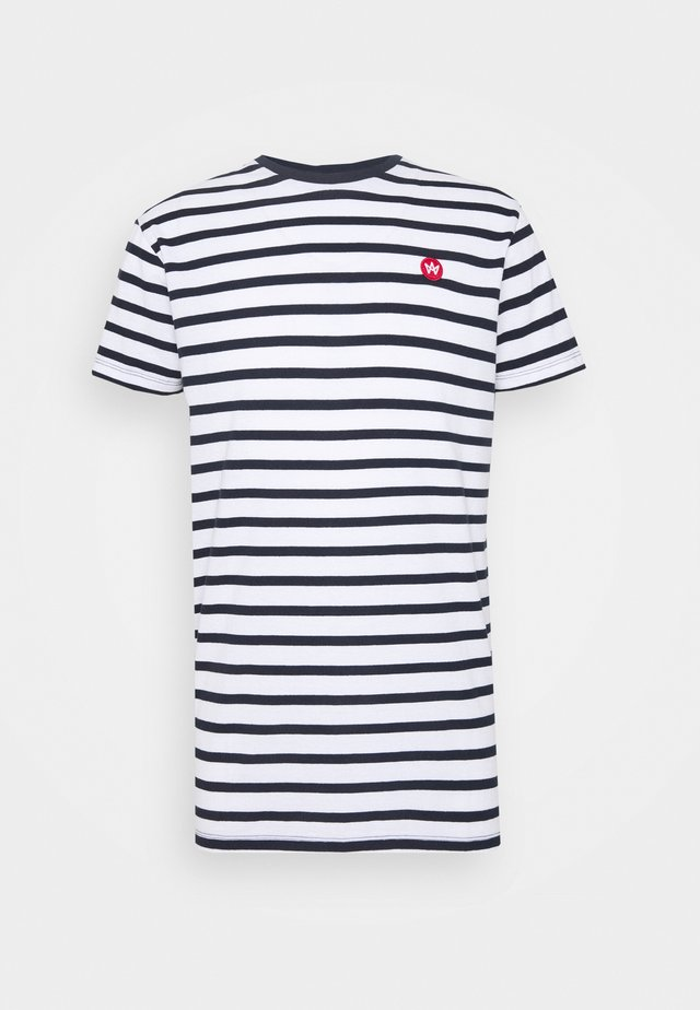 Navey - Camiseta estampada - navy white