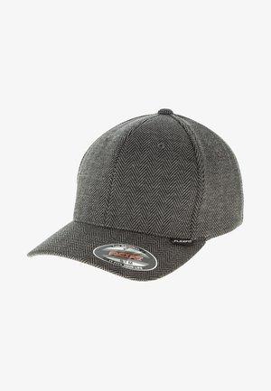 HERINGBONE MELANGE FLEXFIT - Cap - black/grey