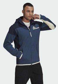 adidas Performance - Z.N.E HOODIE PRIMEGREEN HOODED TRACK TOP - Zip-up hoodie - blue - 2