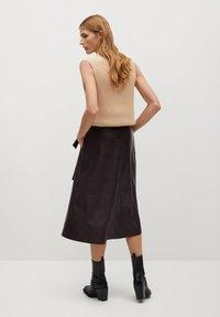 Mango - CHOCOLAT - A-line skirt - marron - 2
