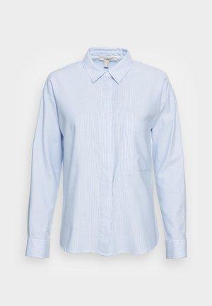BLOUSES STRIPE - Button-down blouse - pastel blue