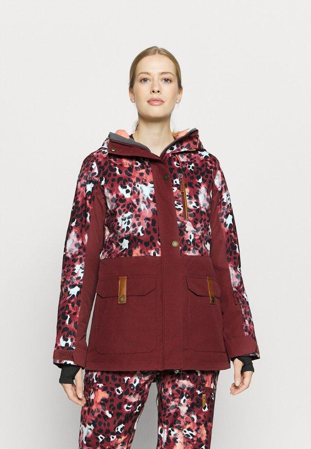 ANDIE - Snowboard jacket - oxblood/red leopold