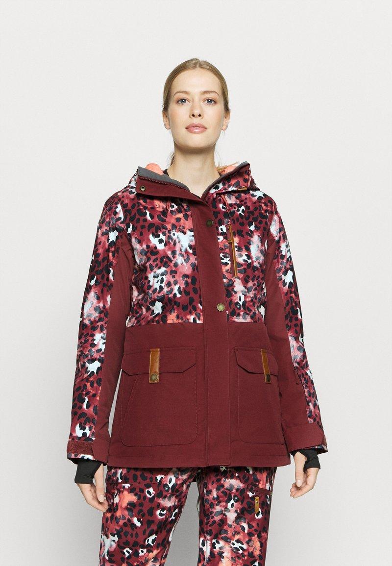 Roxy - ANDIE - Snowboard jacket - oxblood/red leopold