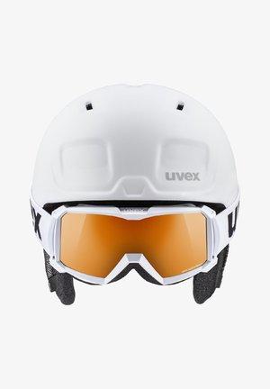 Helmet - white  black mat