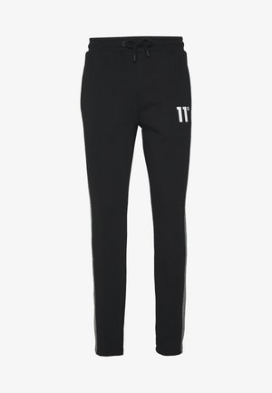 CUT AND SEW HERRINBONE SIDE PANEL  - Trainingsbroek - black