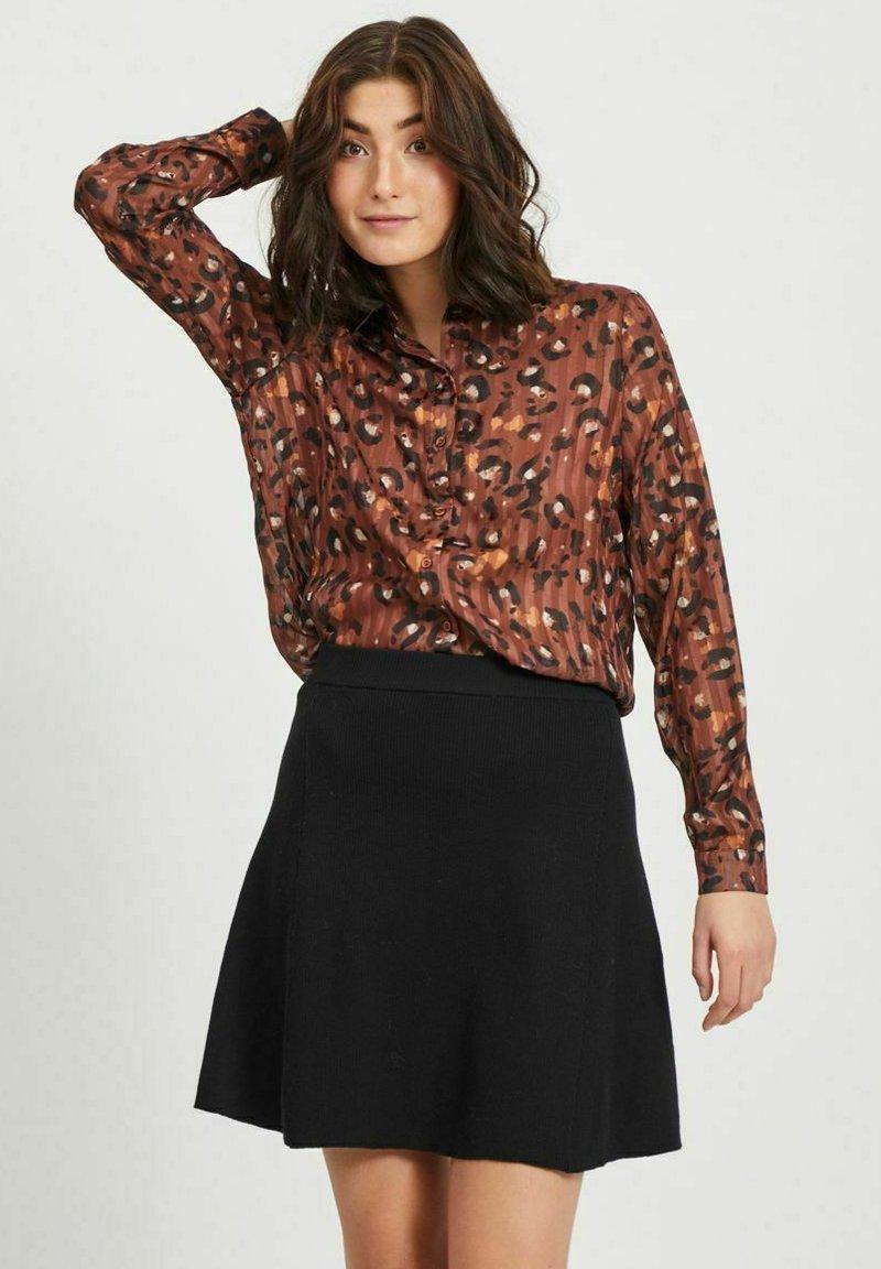 Vila - Button-down blouse - tobacco brown