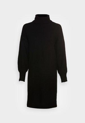 PCFABIA HIGH NECK  - Pletené šaty - black