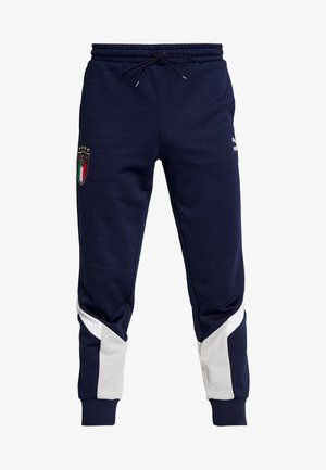 ITALIEN FIGC ICONIC MCS TRACK PANTS - Tracksuit bottoms - peacoat/grey