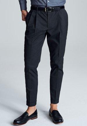TWIN PLEAT - Trousers - grey
