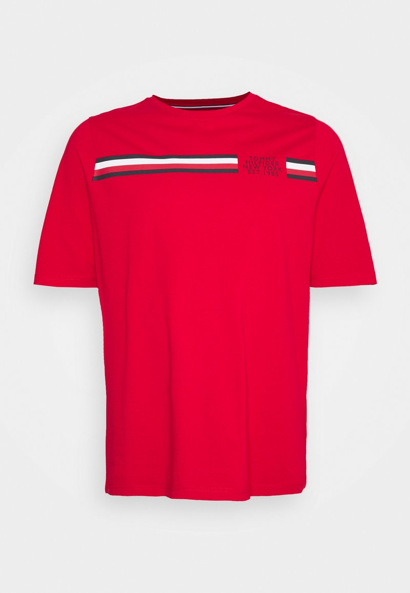 Tommy Hilfiger - SPLIT TEE - Print T-shirt - primary red