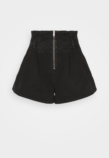 TOCEY - Jeans Shorts - used black