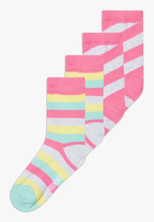 4 PACK - Ponožky - china pink