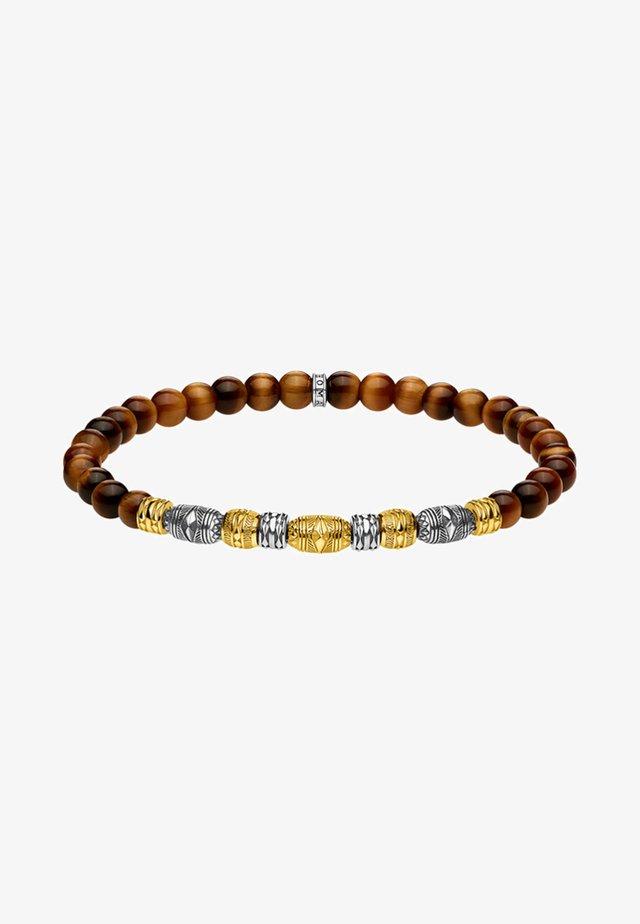 TALISMAN - Bracelet - gold-coloured/silver-coloured/brown