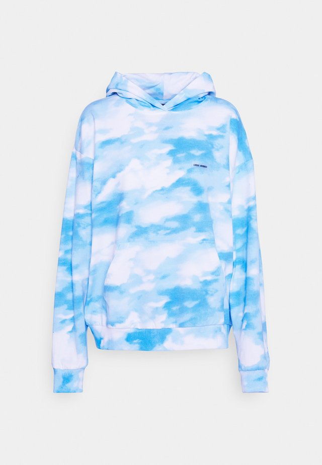 SKY HOODIE - Mikina - blue/white