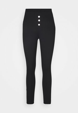 Front buttoned Leggings - Legging - black