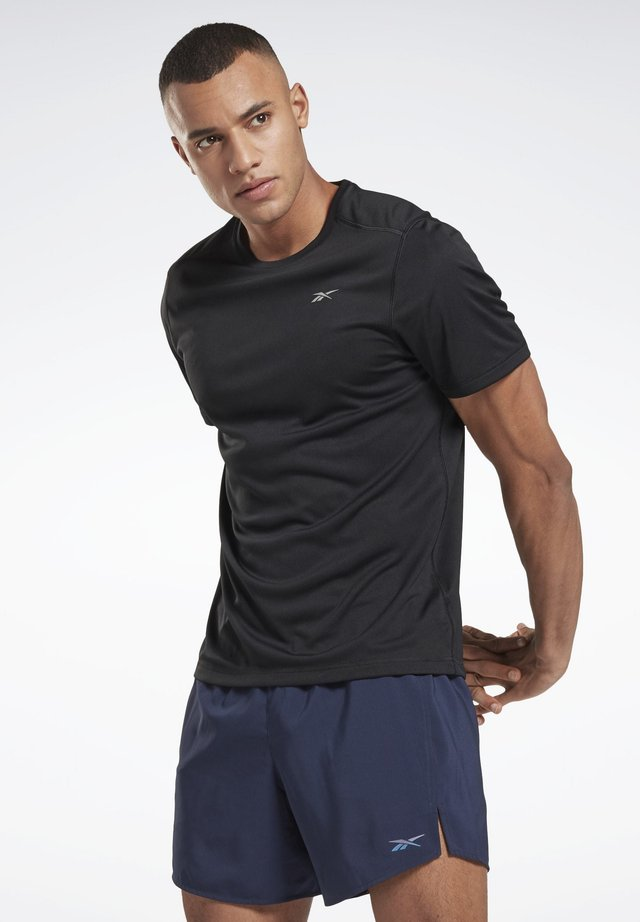 NIGHT RUN SHIRT - T-shirt - bas - black