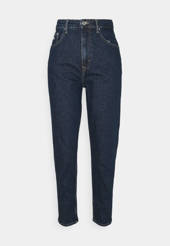 MOM UHR - Jeans Tapered Fit - denim dark