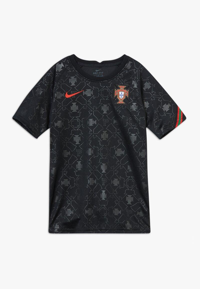 Nike Performance - PORTUGAL FPF Y NK DRY SS PM - Oblečení národního týmu - black/challenge red