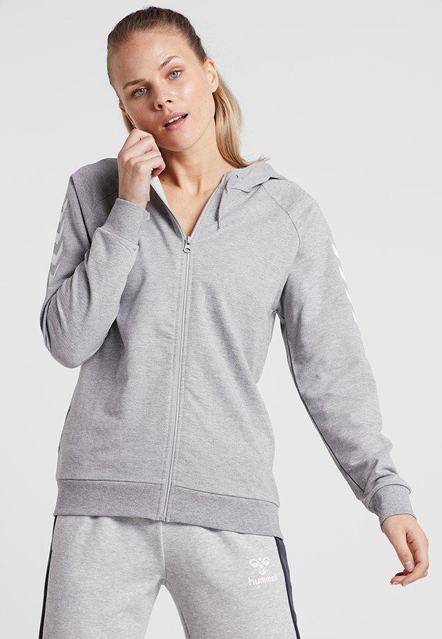 HMLGO - veste en sweat zippée - grey melange