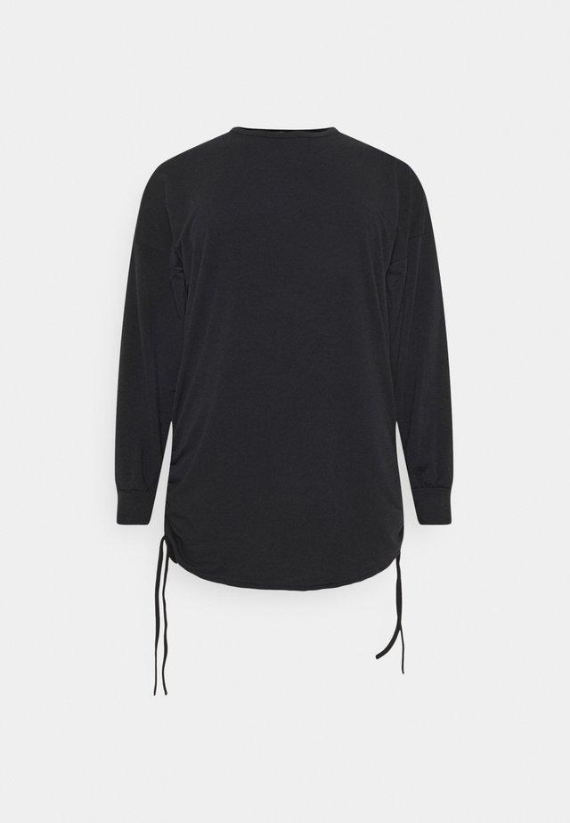 PLUS SIZE RUCHED SIDE DRESS - Vapaa-ajan mekko - black