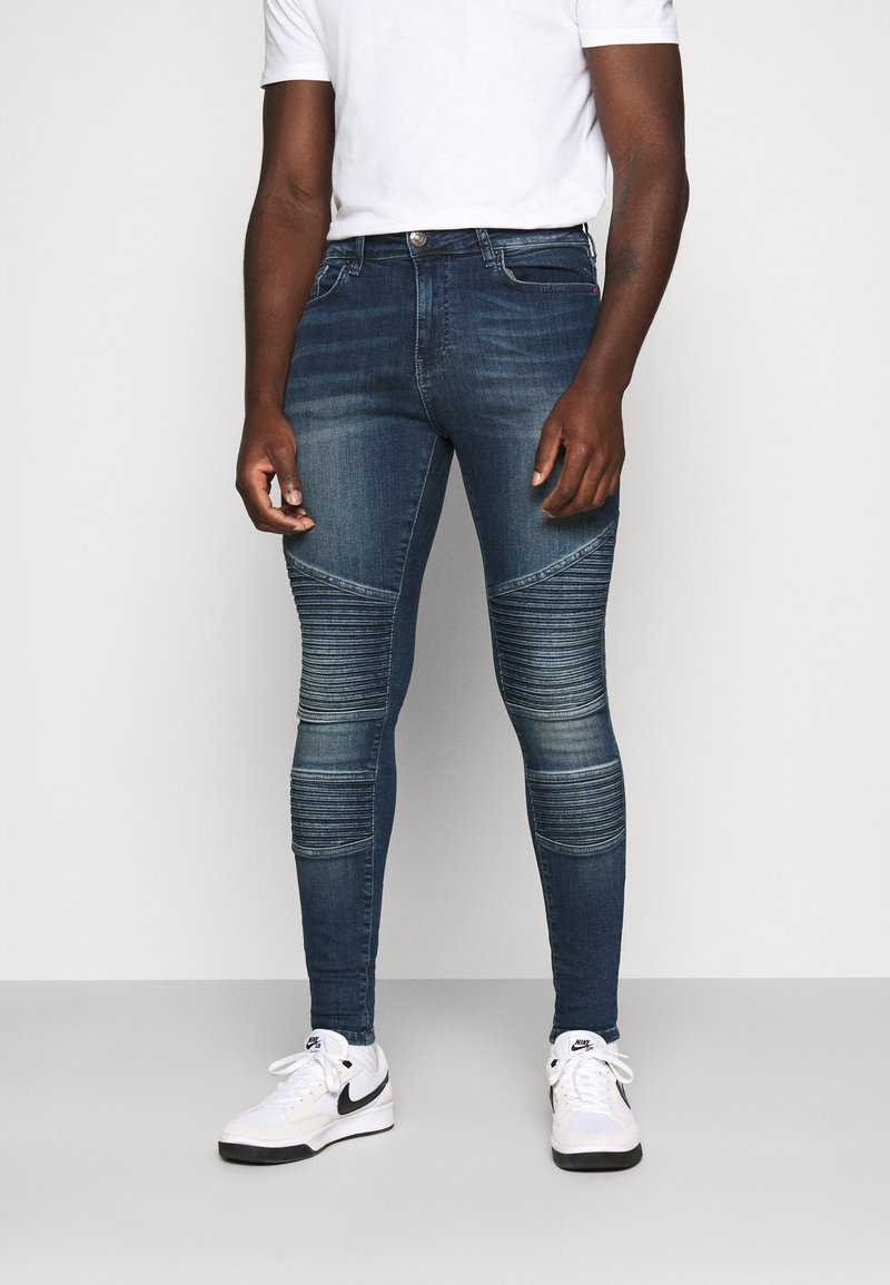 11 DEGREES - BIKER - Jeans Skinny Fit - grey