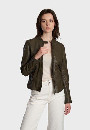 KARINE - Leren jas - bronze