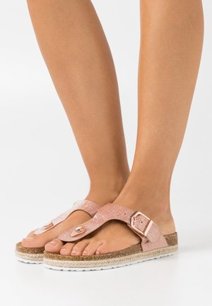 FLEETWOOD TPOST - Flip Flops - rose gold