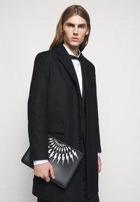 Neil Barrett - THUNDERBOLT FAIRISLE - Laptop bag - black/white - 1