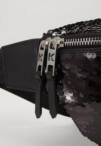 KARL LAGERFELD - SEQUIN BUMBAG - Bum bag - black - 8