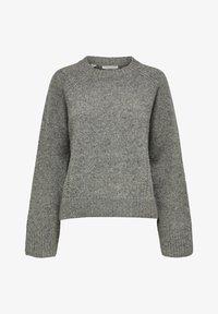 Selected Femme - Sweter - medium grey melange - 5
