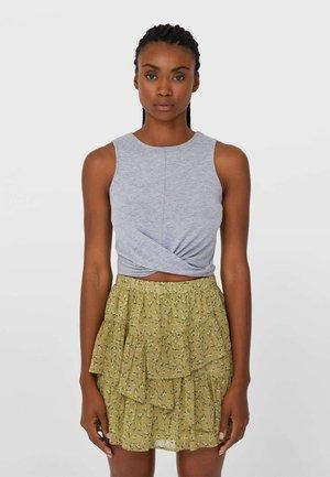 MIT VOLANTS - A-line skirt - light green