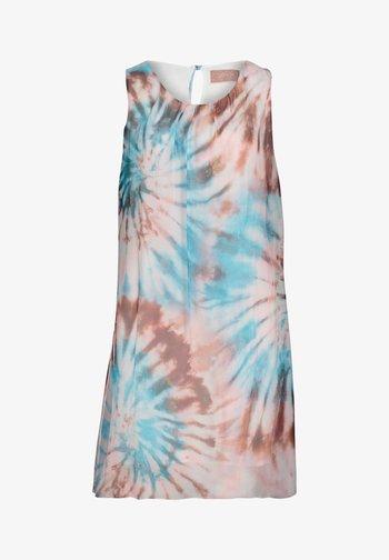 MIT PRINT - Day dress - blau/taupe