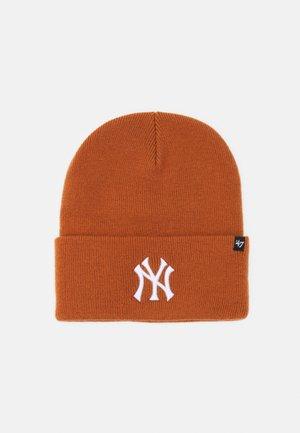 NEW YORK YANKEES HAYMAKER CUFF UNISEX - Czapka - burnt orange