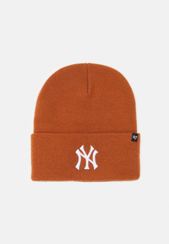 NEW YORK YANKEES HAYMAKER CUFF UNISEX - Beanie - burnt orange