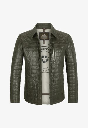 BARDOLINO - Leather jacket - oliv