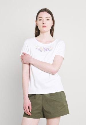 VITINNY FLOWER DETAIL  - Print T-shirt - snow white