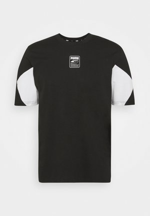 REBEL ADVANCED TEE - T-shirt z nadrukiem - puma black