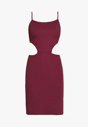 OPEN SIDE DETAIL DRESS - Vestido de tubo - burgunday