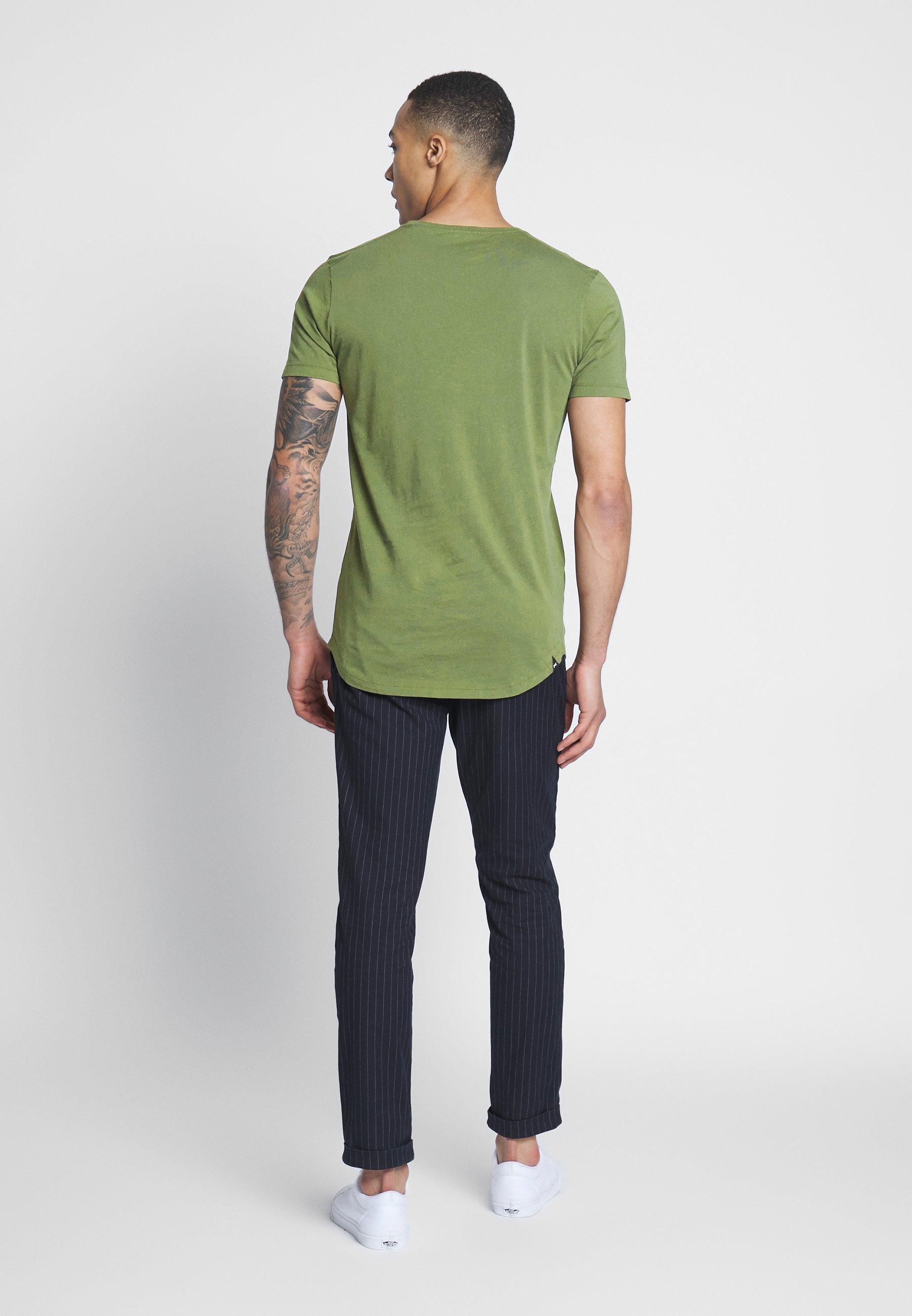 Denham LUIS LONGLINE TEE - Basic T-shirt - army green v4G4c