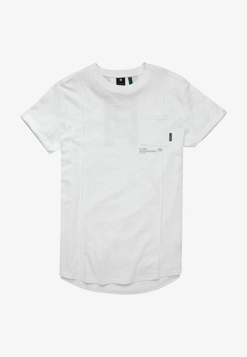 LASH POCKET BACK GRAPHIC - T-shirt med print - white