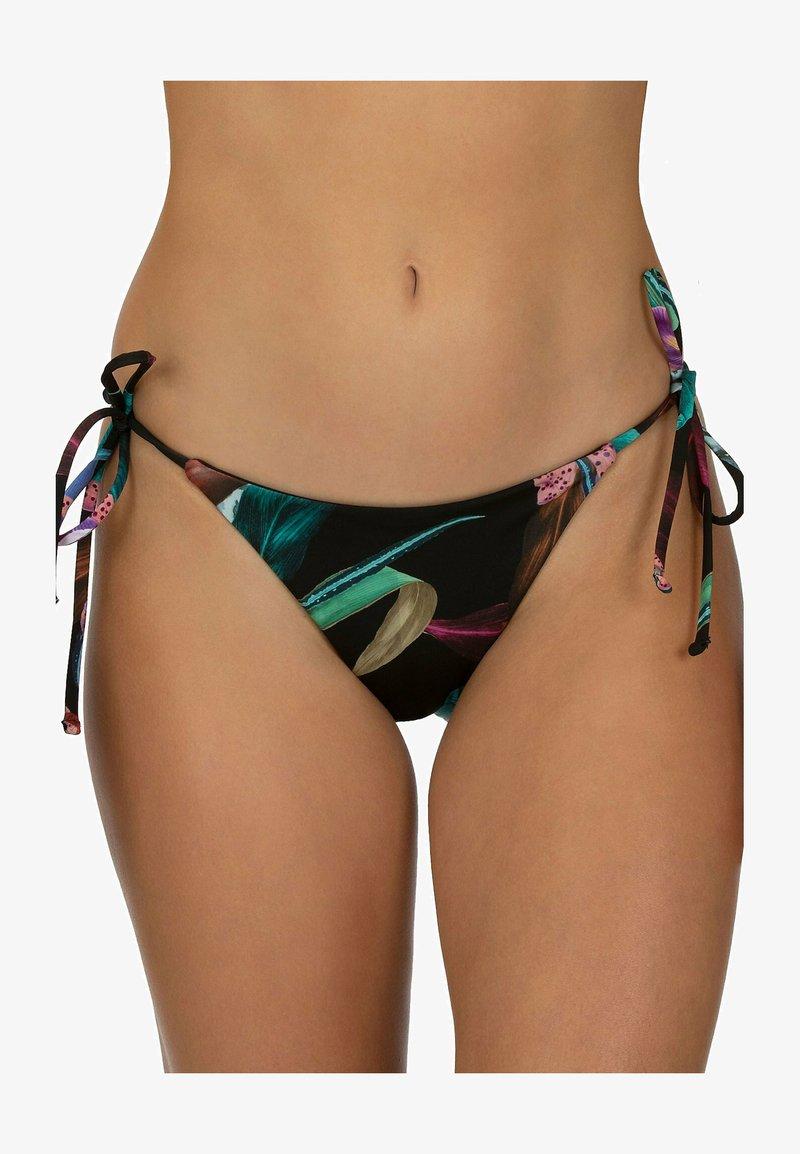 Hurley - RVSB ORCHID SNACK - Bikini bottoms - black orchid