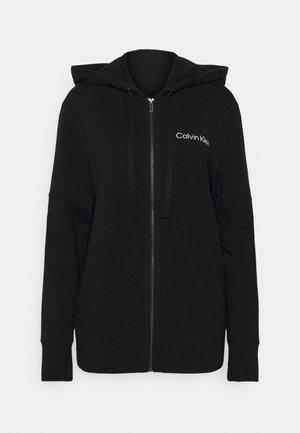 MODERN STRUCTURE FULL ZIP HOODIE - Pyjamashirt - black