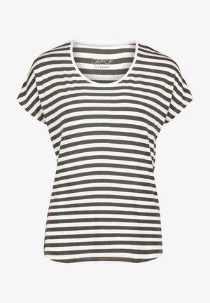 T-shirt print - khaki/white