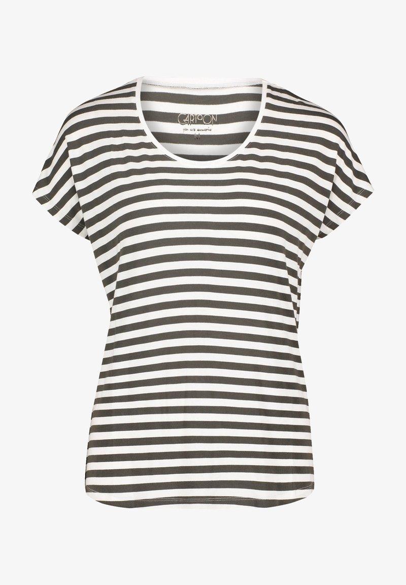 Cartoon - Print T-shirt - khaki/white