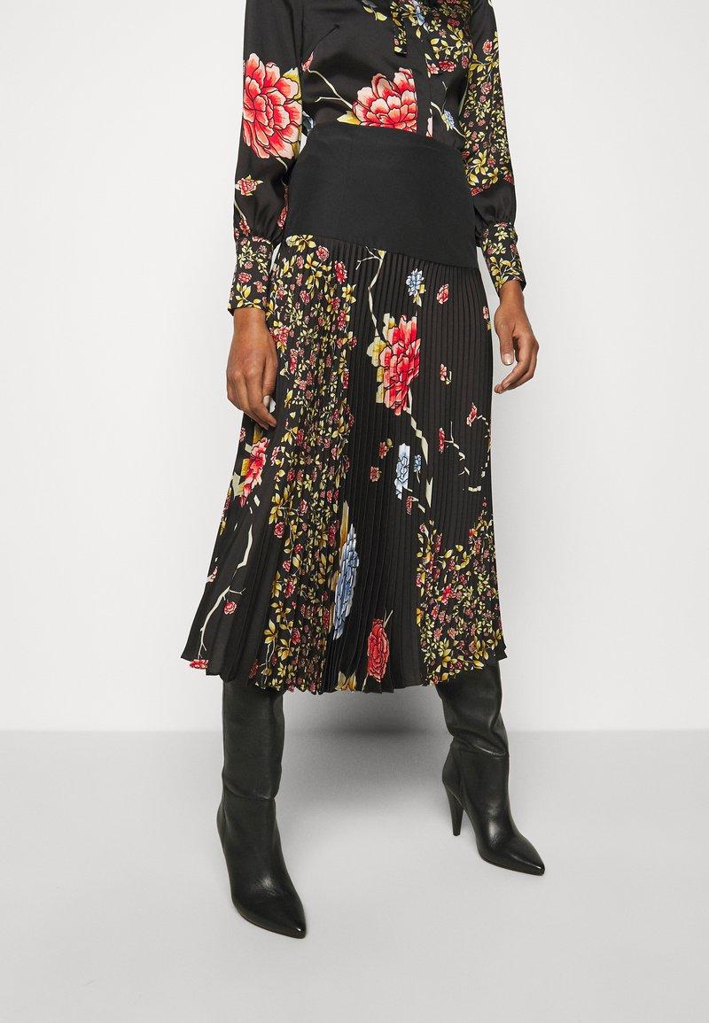 Victoria Victoria Beckham - PLEATED SKIRT - Áčková sukně - black