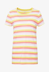 CREW - Triko spotiskem - yellow/pink/multi strp