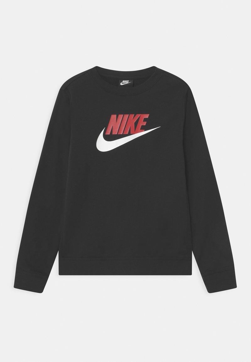 Nike Sportswear - CLUB CREW - Sweatshirt - black/university red