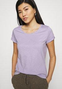 edc by Esprit - SLUB TEE - Basic T-shirt - lilac - 3