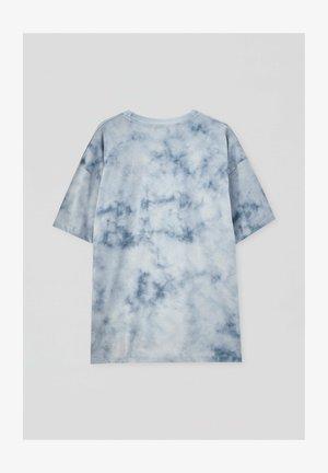 RICK & MORTY MIT TIE-DYE - Print T-shirt - mottled dark blue